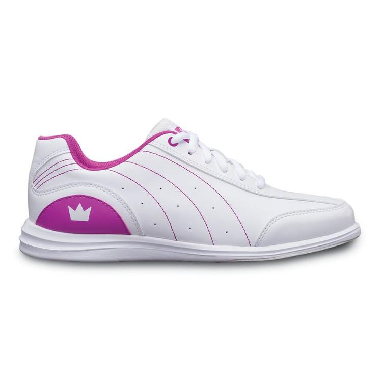 Brunswick Mystic Women's Bowling Shoes White Fuchsia