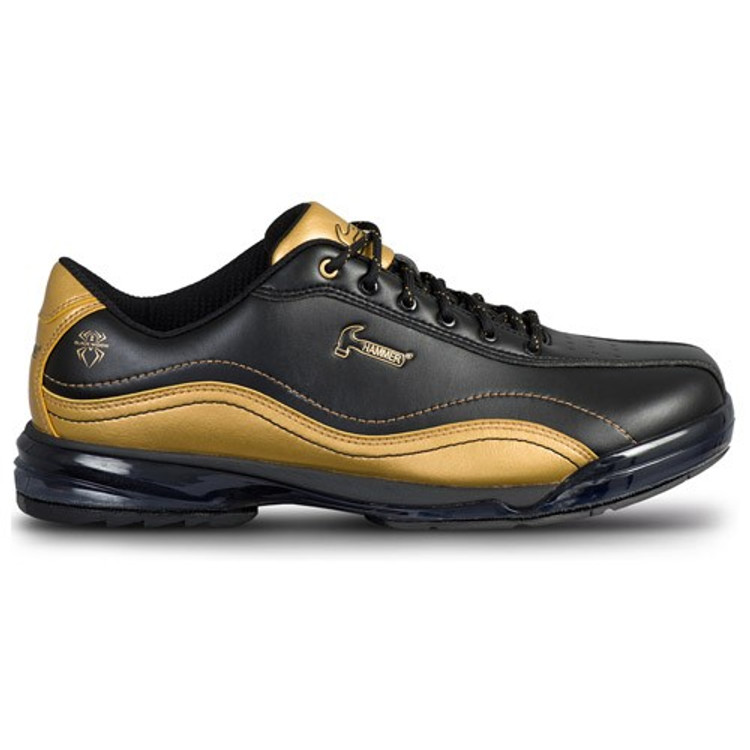 Hammer Force Black Widow Mens Performance Bowling Shoes Black Gold Right Hand