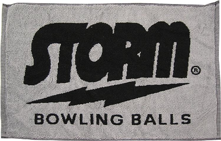 Storm Woven Towel Black Gray
