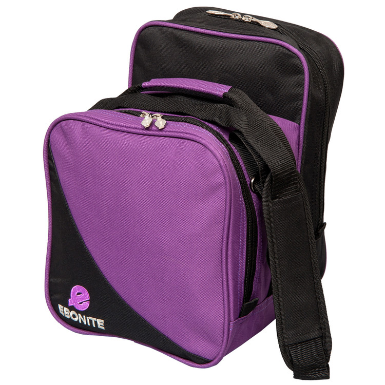 Ebonite Compact 1 Ball Single Tote Bowling Bag Purple