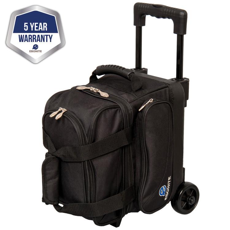 Ebonite Transport 1 Ball Single Roller Bowling Bag Black