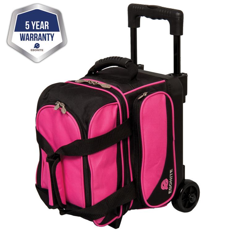 Ebonite Transport 1 Ball Single Roller Bowling Bag Pink