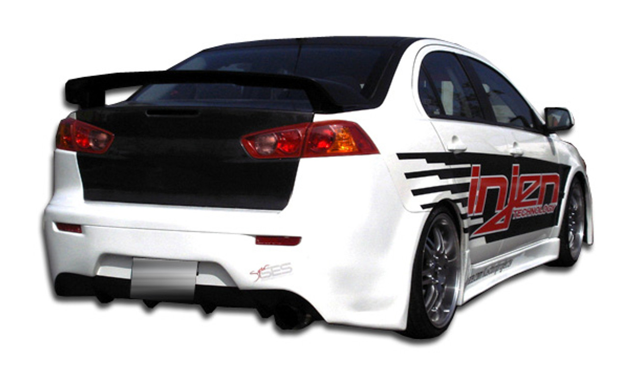mitsubishi carbon lancer fiber evolution gt voltex products large style wing