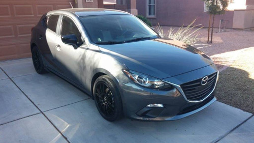 ... Drag Wheels DR 38 17x7 4x100 4x114.3 Flat Black Rims Mazda 3 6