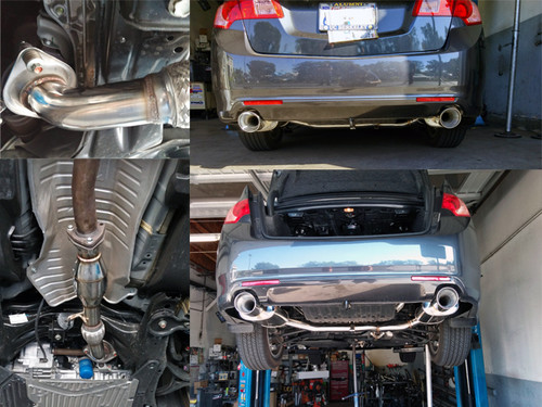 Free Shipping On Tsudo Acura TSX Dual SP Cat Delete - Acura tsx exhaust