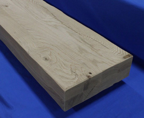 3.5-inch-Thick-Rough-Sawn-Tread-White-Oak-Character-Rustic distressed thick stair treads for mountain modern staircases-3-1/2 inch thick-Rustic-Thick-Tread-Distressed-Thick-Tread