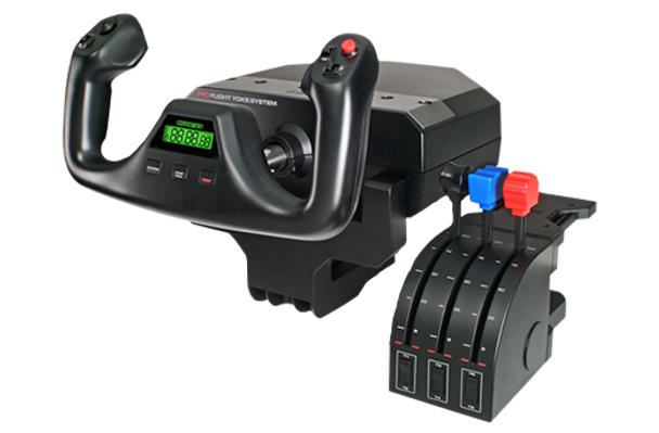 LOGITECH Flight Yoke System Professional Simulation Yoke & Throttle Quadrant