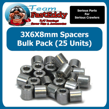 3X6X8 Spacers (25 Pack)