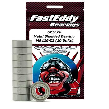 6x12x4 Metal Shielded Bearing MR126-ZZ (10 Units)
