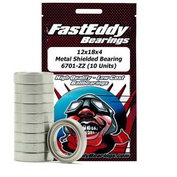 12x18x4 Metal Shielded Bearing 6701-ZZ (10 Units)