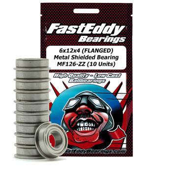 6x12x4 (FLANGED) Metal Shielded Bearing MF126-ZZ (10 Units)