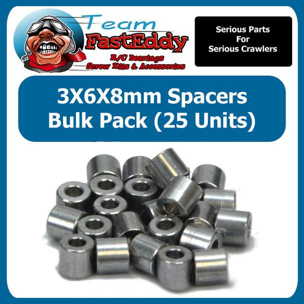 3X6X8 Spacers (25 Pack)