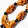 Detailed Carved Olive Pit Arhats Prayer Beads Mala