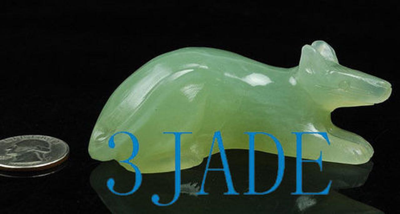 Jade Mouse Figurine