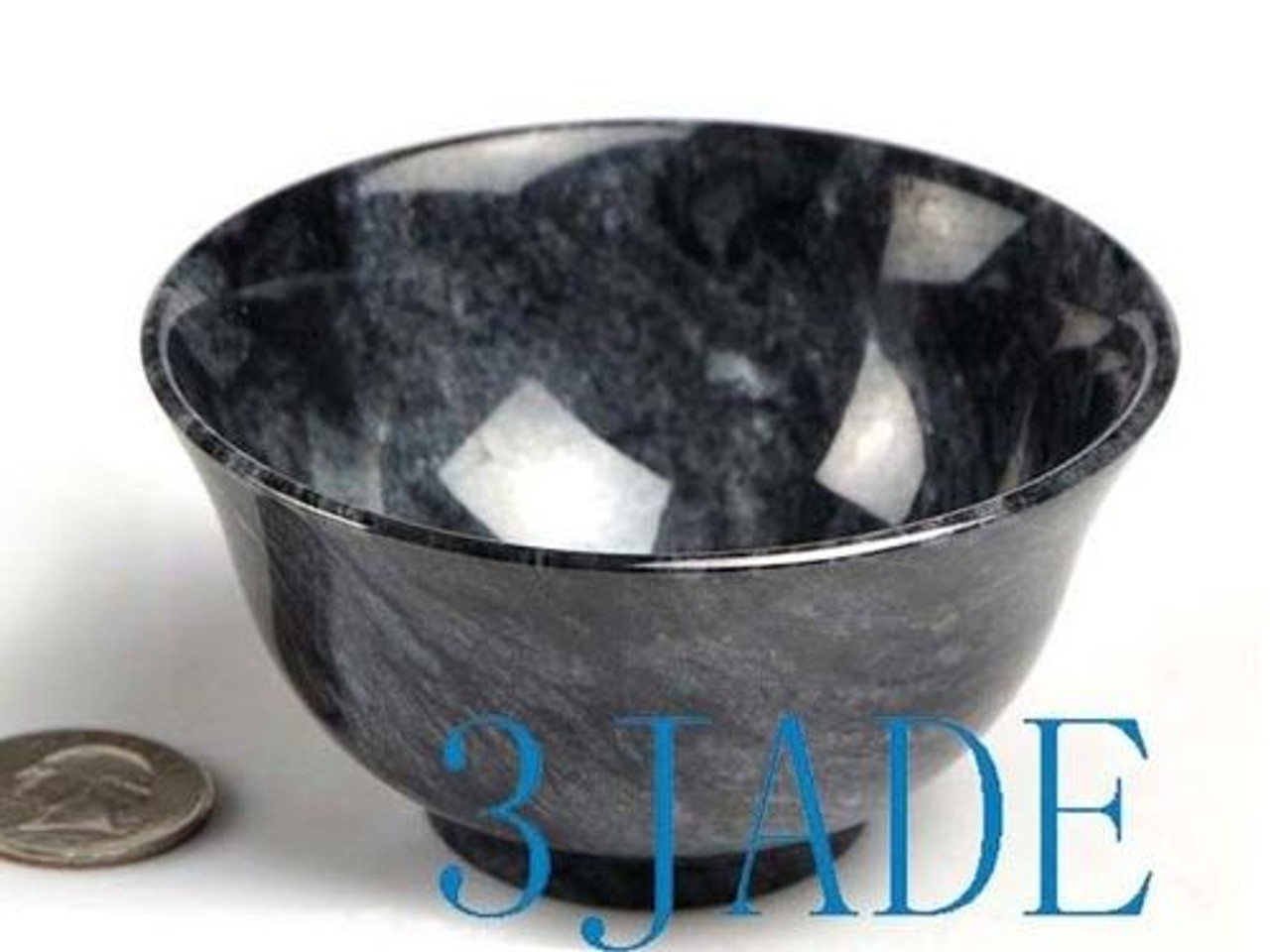 "3 1/2"" Hand Carved Natural Stone Rock Bowl / Calcite Cup"