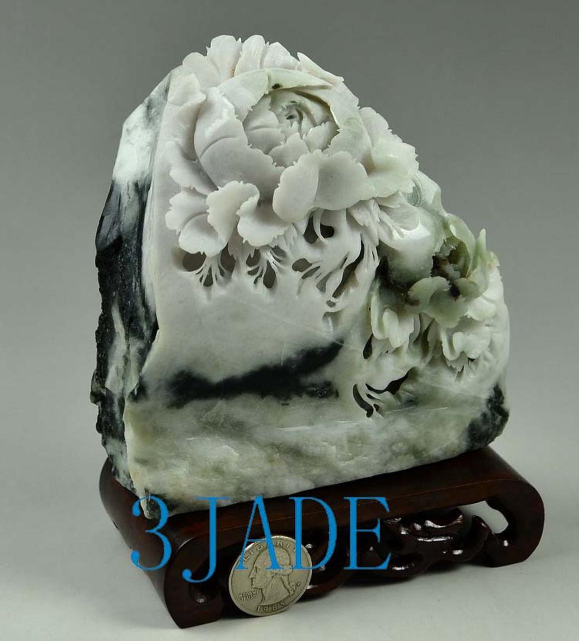 jade Flowers Sculpture