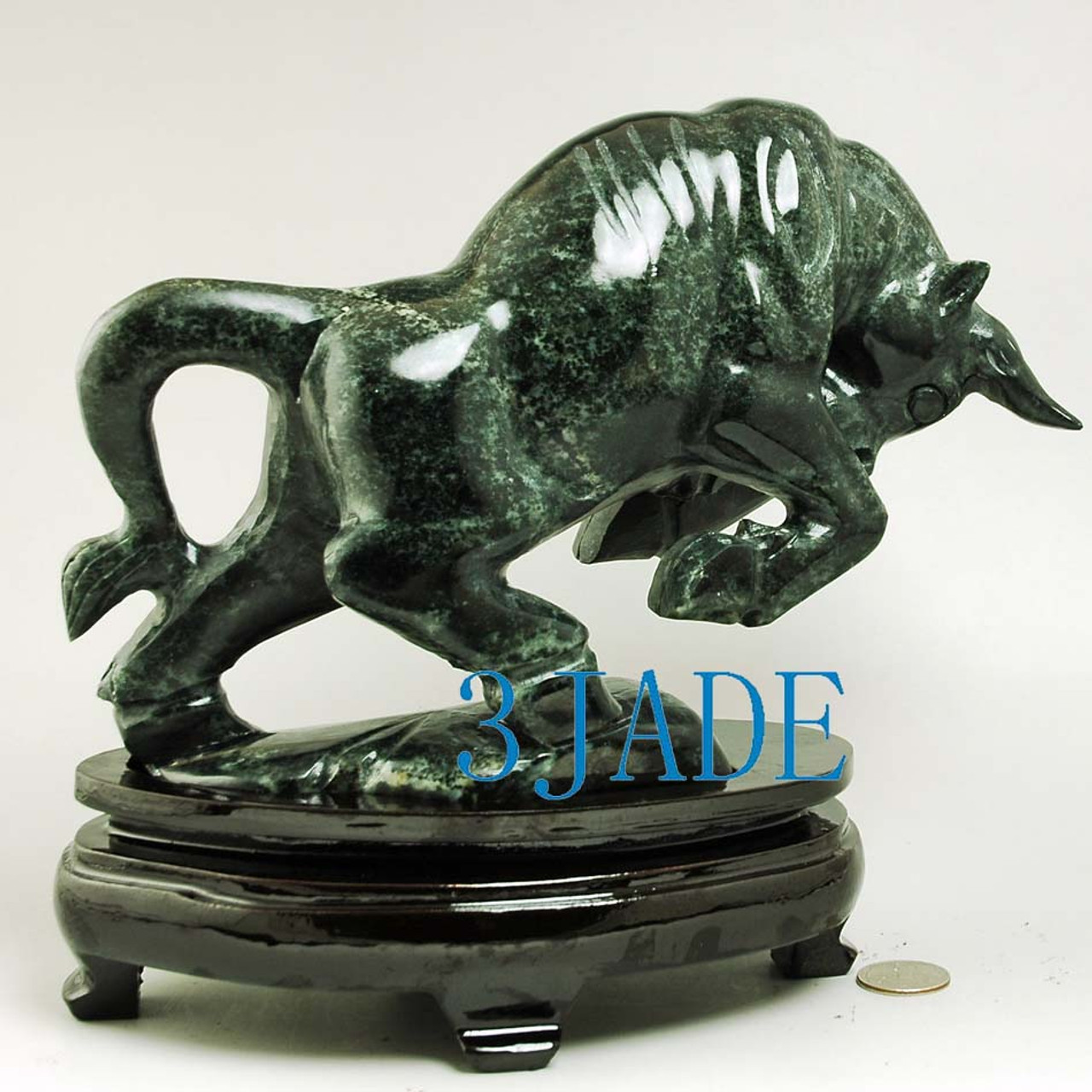 carved fighting Bull