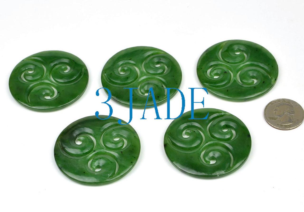 greenstone triple spiral penant