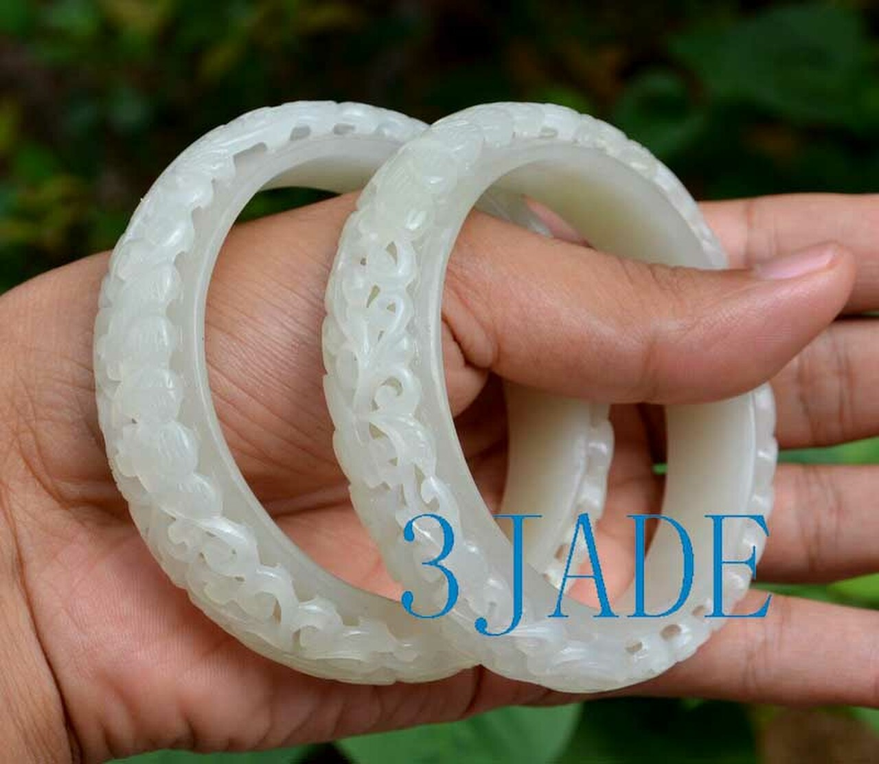 white nephrite jade bangle