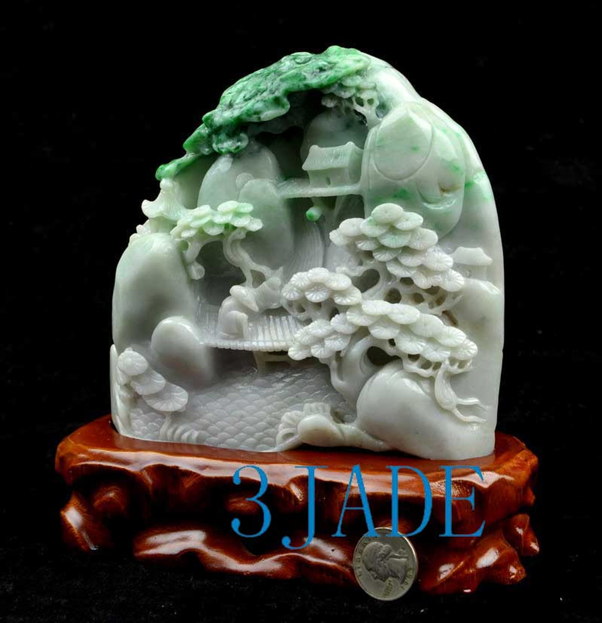 Chinese Mountain Scenery Carving