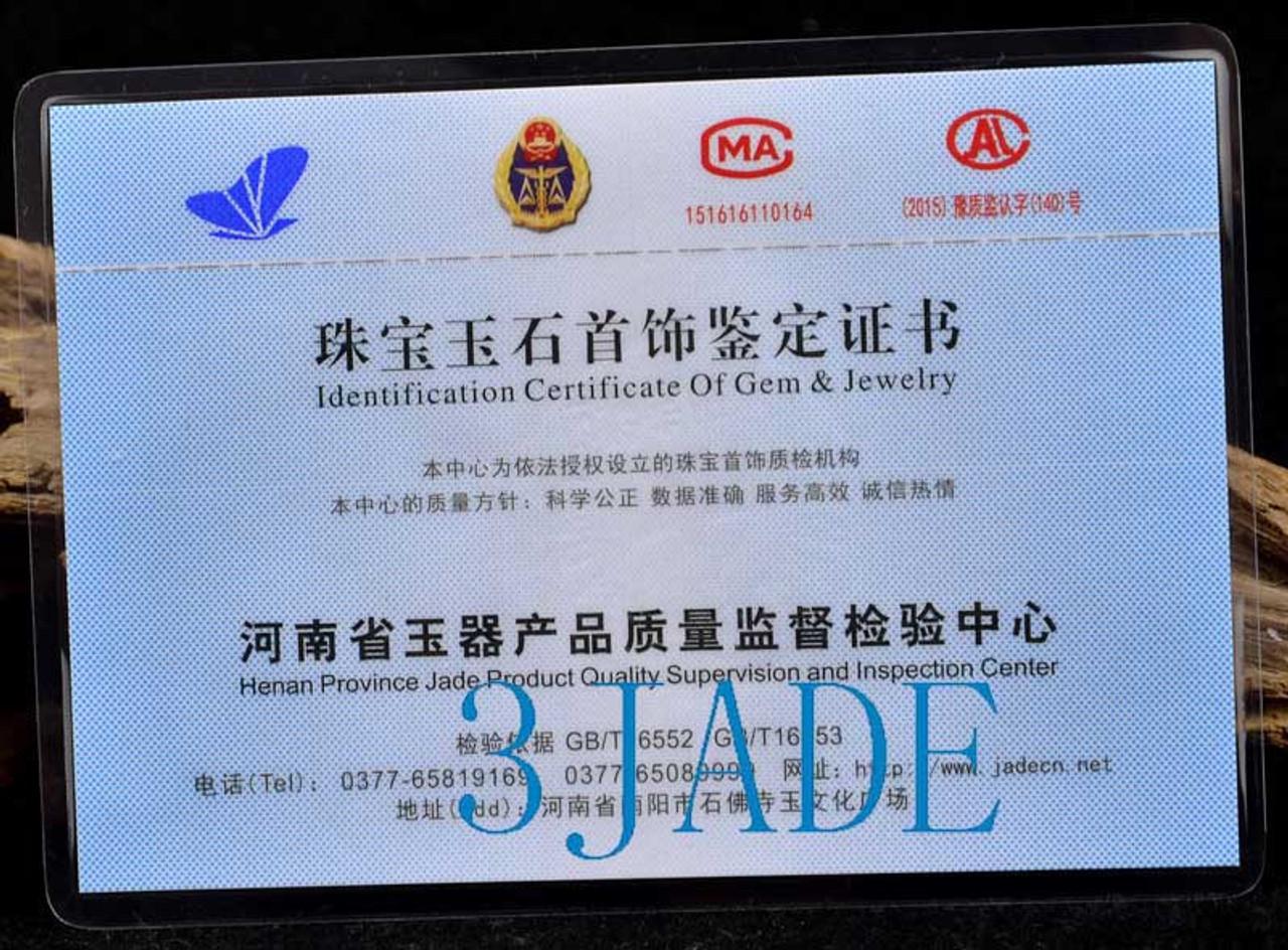 A Grade Burmese Jadeite Jade Teapot Carving Statue Tea Party Idea w/ Certificate