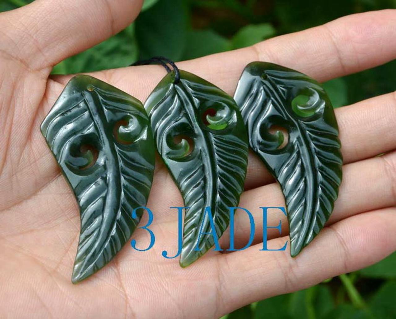 greenstone Koru Fern