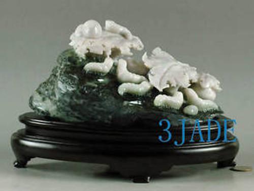 Jade Silkworms Statue