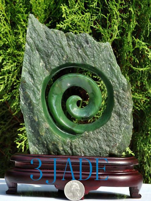 jade Koru carving