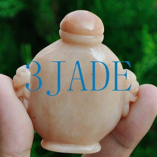 Hand Carved Natural Xinjiang / Sinkiang Desert Gobi Stone Snuff Bottle -N009110
