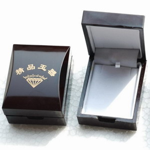 Hardboard Wood Clip Ring Jewelry / Pendant / Gift Box