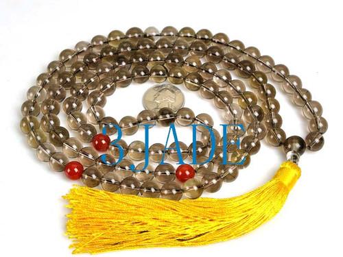 """46"""" Smoky Quartz Prayer Beads"""