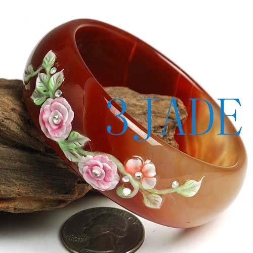 carved Flower Bangle