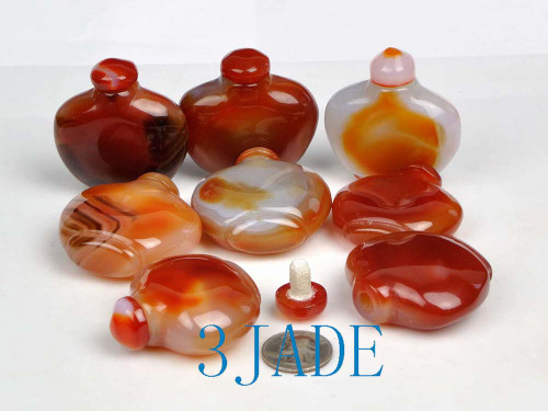 Carnelian Red Agate Snuff Bottles