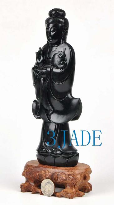 cared jade guanyin statue