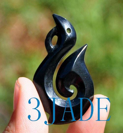 Certified black nephrite jade hei matau necklace fish hook pendant certified black nephrite jade hei matau necklace fish hook pendant nz maori carving g030006 mozeypictures Choice Image