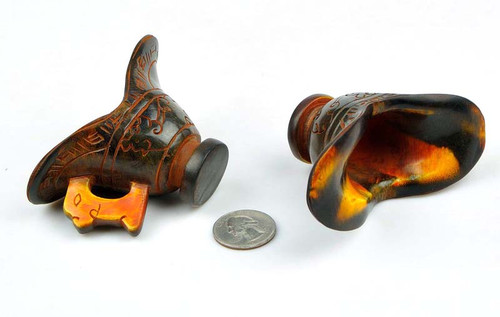Hand Carved Natural Horn Cup / ZUN -NZ00050