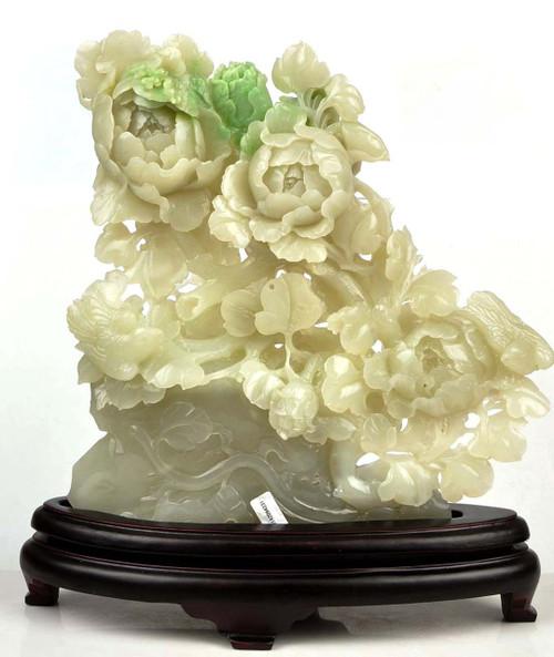 jade flower sculpture