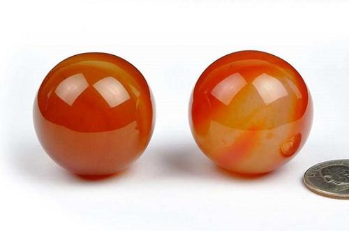 red agate spheres
