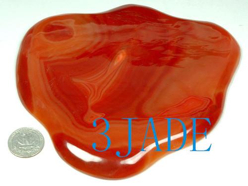 Carnelian / Red Agate Carving: Fruit Plate -N016036
