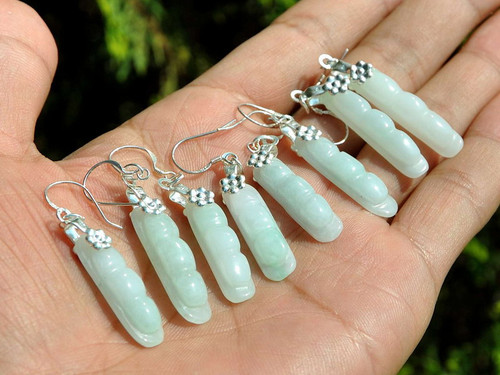 A grade jade earrings