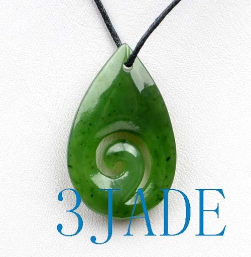 green jade Koru pendant