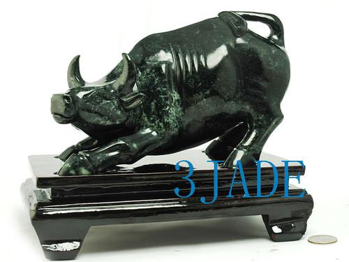 stone Wall Street Bull