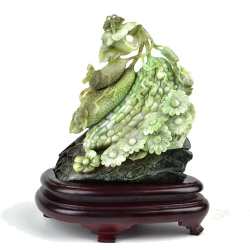 Dushan jade plant carving