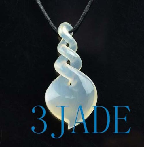 agate triple twist pendant