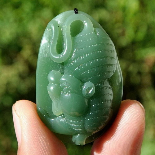 Natural green nephrite jade tiger pendant necklace hand carved natural green nephrite jade tiger pendant necklace hand carved amulet w certificate g026127 mozeypictures Gallery
