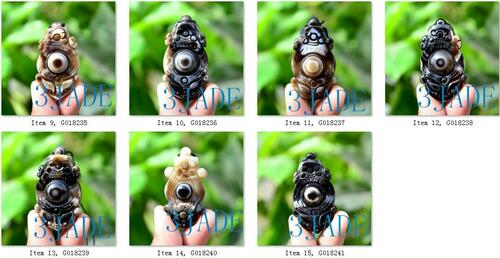 Tibetan Ritual DZI Bead Heaven Eye Powerful Energy Amulet Agate Talisman -G018227-41