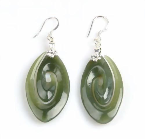 jade spiral earrings
