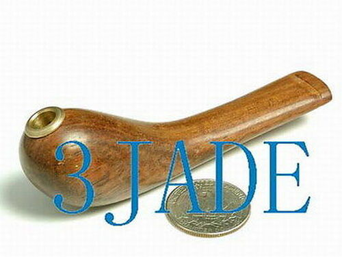 """4"""" Hand Carved Natural Rosewood Cigarette Holder -ZZ00023"""