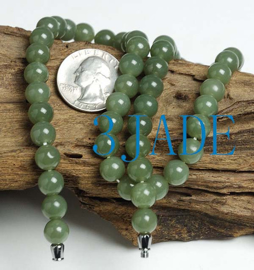 celadon nephrite jade necklace