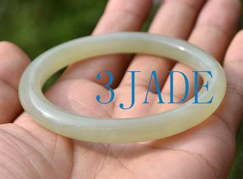 60.5mm Hetian jade bangle